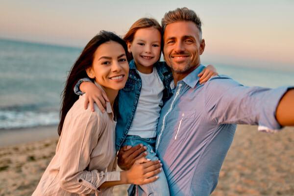 En familjefotografering ger ett minne för livet